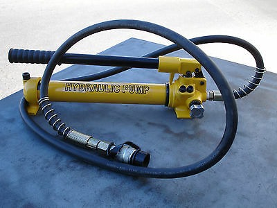 "10000Psi Hydraulic Cylinder Ram Hand Pump W/ 1.2m Hose & 3/8"" Couple Fitting"