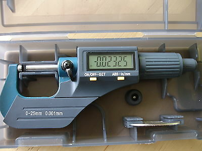 """0-25MM / 0-1"""" Combo Water Resistant (IP54) Electronic Digital Outside Micrometer"""