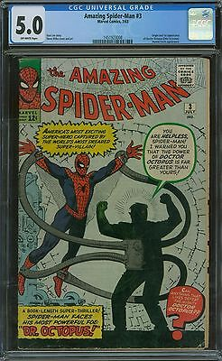 Amazing Spider-Man 3 CGC 5.0 - OW Pages