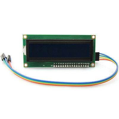 I2C / IIC LCD 1602 Display Module with Blue Backlight 4-Pin Cable for Arduino