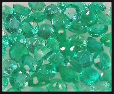 Buy It Now!!! Valuable Set 25 Natural Untreated Green Zambian Emerald Round