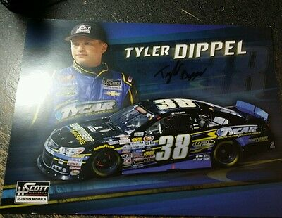 Tyler Dippel  Autographed NASCAR Hero Post Card Photo