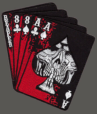 Reaper Dead Man's Hand Aces Reaper Skull Spade Iron On Mc Patch By Miltacusa