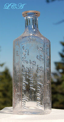 Rare old FORT BENTON MONTANA drug store bottle LOCKWOOD PHARMACY