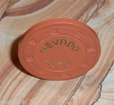 Rare Nevada Hotel Casino Roulette Chip From Ely Nevada!