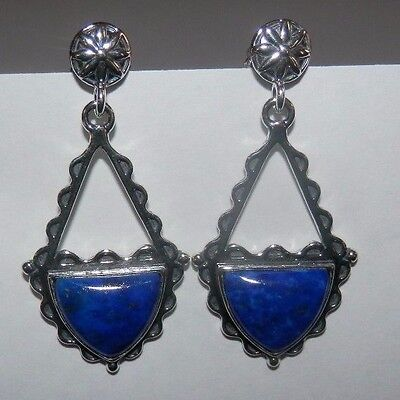 Carolyn Pollack American West Lapis Sterling Silver Earrings