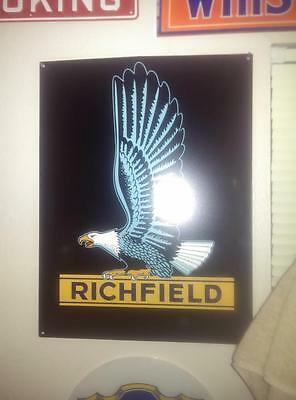 Richfield Advertising Wings Gas Station Metal Sign Atractiver Reproduction