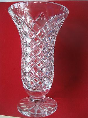 BEAUTIFUL BOHEMIA CZECH LEAD CRYSTAL VASE Large With STICKER VGC