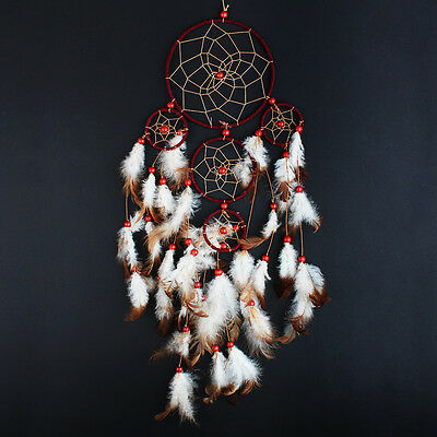 """Handmade Dream Catcher with feather wall hanging decoration ornament 22"""" Long"""