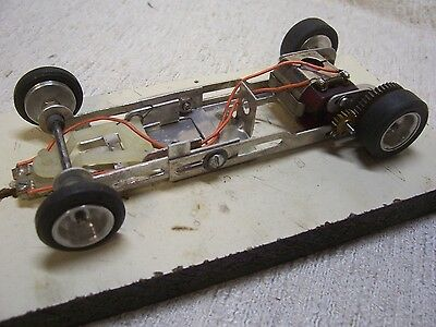 "1/24 Scale Mpc Vintage Complete ""dual"" Dyno-Can Slot Car Running Chassis-Rare!"