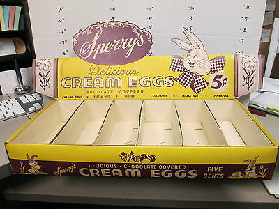 candy box 1950s SPERRY'S CREAM EGGS Easter bunny store display maple coconut BIG