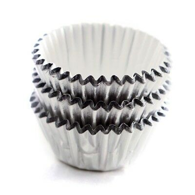 Norpro Silver Mini Party Baking Cups 60 Pack, Candy Cupcakes Cake Muffin Liners