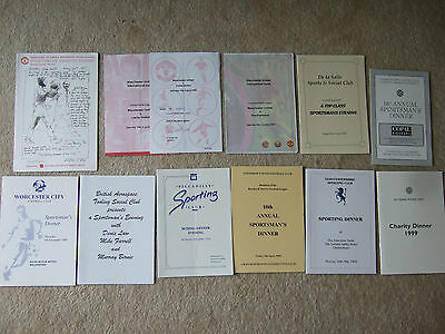 menu kettering round table 1999 guest b charlton manchester united