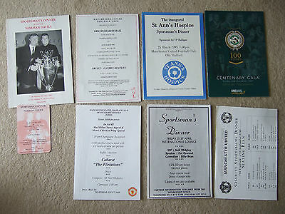 charity dinner 27/9/98 manchester united +,20/4/96 + 21/4/?? + 25/3/95