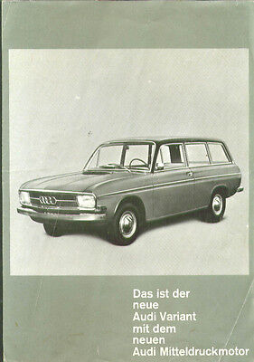 Audi Variant German sales folder 1966