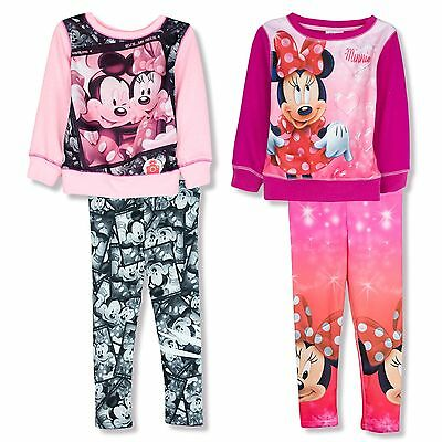 Disney Minnie Mouse Girls Outfit Set Jumper Leggings All Season Outfit Set 3-8y.