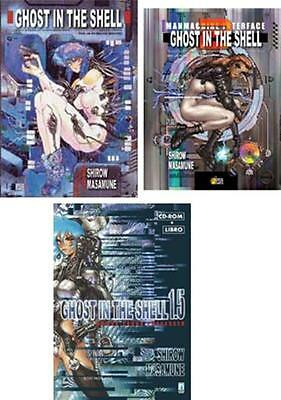 GHOST IN THE SHELL GITS volumi 1 + 1.5 + 2 star comics manga completa 1°EDIZIONE