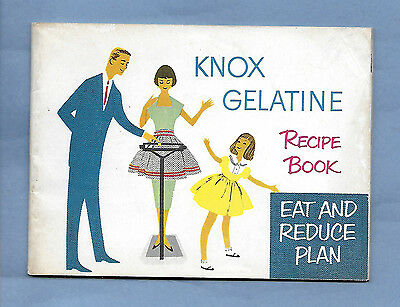 VINTAGE ADVERTISING KNOX GELATINE RECIPE BOOK 1952 40 pages SOME COLOR