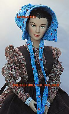 NEW SUNBONNET 4 TONNER SCARLETT O'HARA Custom Cotton Picking GONE WITH THE WIND