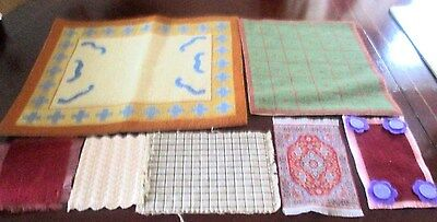 ASSORTED MATS, RUGS ETC FOR DOLLS HOUSE.Assorted sizes