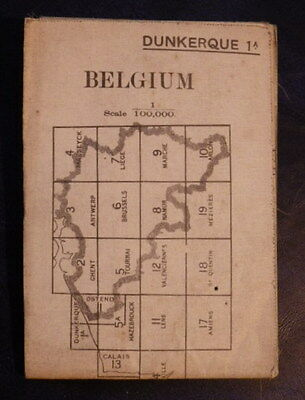 WW2 MAP (Emergency 1939 Issue) DUNKERQUE