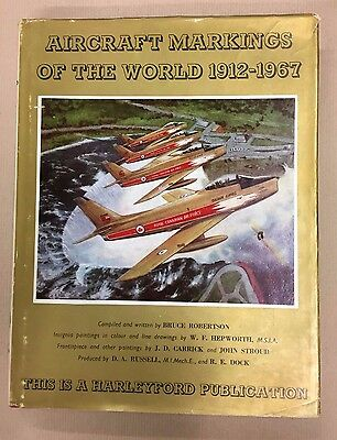 """Limited Signed Edition """"aircraft Markings Of The World"""" Bruce Robertson,1967,"""