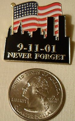 Never Forget 911 Enamel Pin 9-11-2011