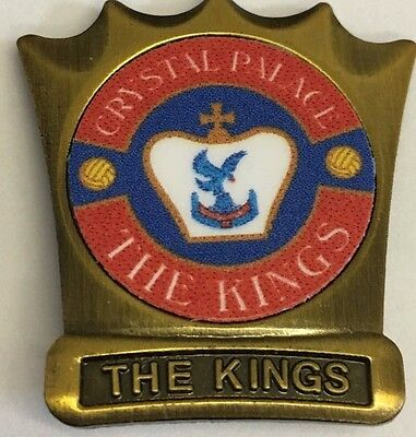 Crystal Palace  The Kings FOOTBALL CROWN SHAPE   INSERT METAL BADGE
