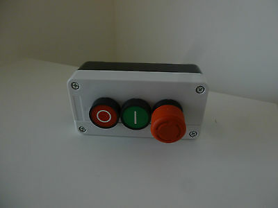 NC Emergency Stop NO Red Green Push Button Switch Station 600V 10A PK