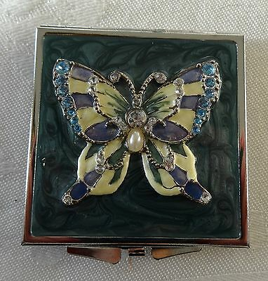 SICURO Italian design double mirror COMPACT with BUTTERFLY