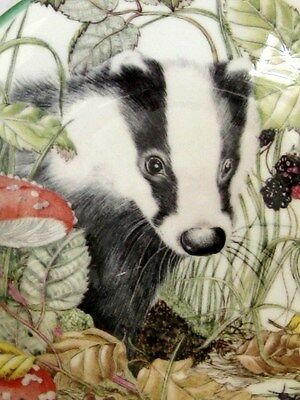 """Royal Kendal Badger 5"""" China Plate By Sheila Manns-Abbot-Collection"""