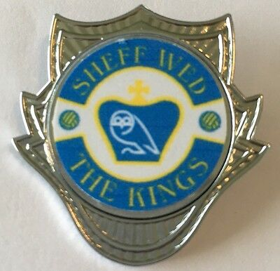 Sheffield Wednesday The Kings ORNATE SHIELD  FOOTBALL INSERT CHROME BADGE
