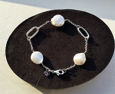 Claudia Bradby Sterling Silver And White Pearl Constantine Bracelet.