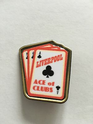 Liverpool ACE OF CLUBS  FOOTBALL INSERT METAL BADGE