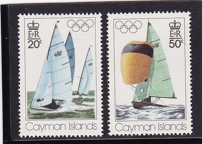 CAYMAN ISLANDS #377-378 MNH 21st SUMMER OLYMPIC GAMES, MONTREAL
