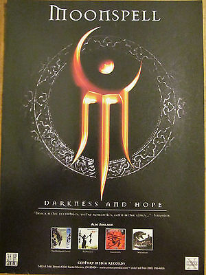 Moonspell, Darkness and Hope, Full Page Promotional Ad