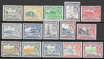 St Kitts&Nevis stamps 1954 SG 106a-118  UNG  VF