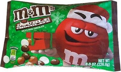 M&M's DOUBLE Dark Milk Chocolate SEASONAL LIMITED 8oz 226.8g M&M candy BB06/2017