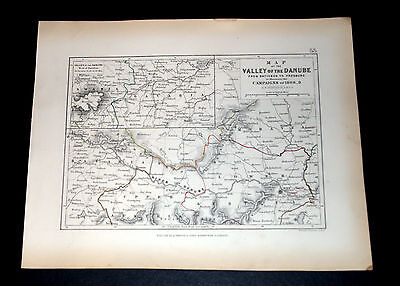 CAMPAIGNS of 1808-9 VALLEY OF DANUBE - NAPOLEONIC WARS, ALISON'S 1850 map 53