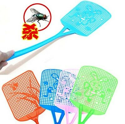 FD983 Bug Insect Fly Pest Mosquito Swatter Killer Racket Handle ~Random 1pc~