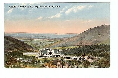 DB Postcard,Columbia Gardens,Looking Towards Butte,Montana