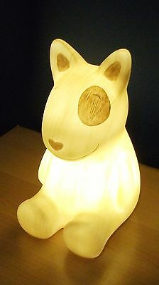 Wood Effect Led Puppy Dog Table Lamp Night Light Kids Boys Girl Children Patchy