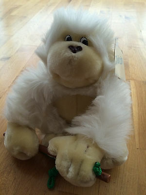 """Large 9"""" Vintage Monkey (1980's) Soft Toy By Quiron Label still attached"""
