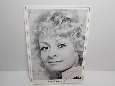 Authentic Signed  Photograph  Helga Papouschek Austrian Actor  Singer