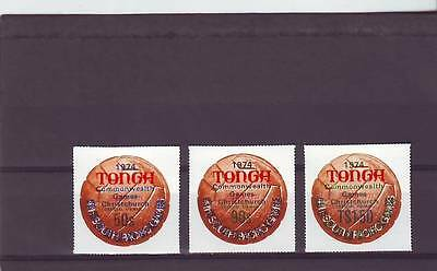 a121 - TONGA - SGO109-O111 MNH 1973 OVPT COMMONWEALTH GAMES - OFFICIALS
