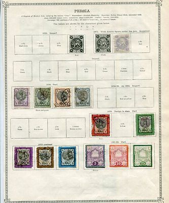 MIDDLE EAST 1875-1915 M&U COLLECTION on pages 165 Stamps