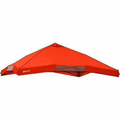 NEW Ozark Trail Instant x 12' Canopy Top Red Gazebo Cove Shelter TOP ONLY