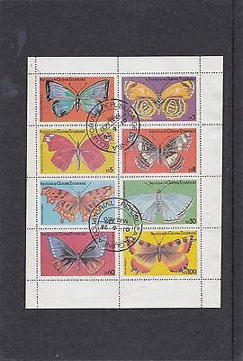 Equatorial  Guinea 1976 Butterflies sheetlet cto cancelled to order