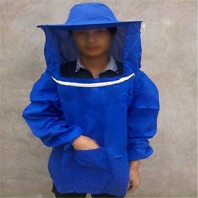 Beekeeping Protective Veil Smock Bee Suit Equipment Beekeeper Coat Jacket UK