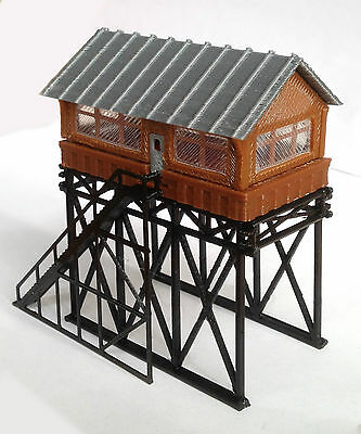 Outland Models Train Railway Layout Station Overhead Signal Box / Tower Z Gauge